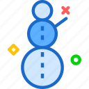 cold, ice, snowman, winter icon