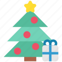celebration, christmas, christmas tree, gift, holiday, tree, xmas icon