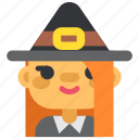 celebration, girl, helloweeh, holiday, party, suit, witch icon
