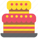birthday, cake, celebration, holiday, party, pie icon