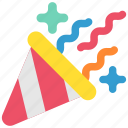 birthday, cap, celebration, confetti, festival, holiday, party icon