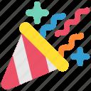 birthday, cap, celebration, confetti, festival, holiday, party