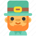celebration, festival, holiday, leprechaun, redhead, saint patrick, st.patrick 's day icon