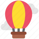 airballon, balloon, holiday, romance, sky, transport, travel icon