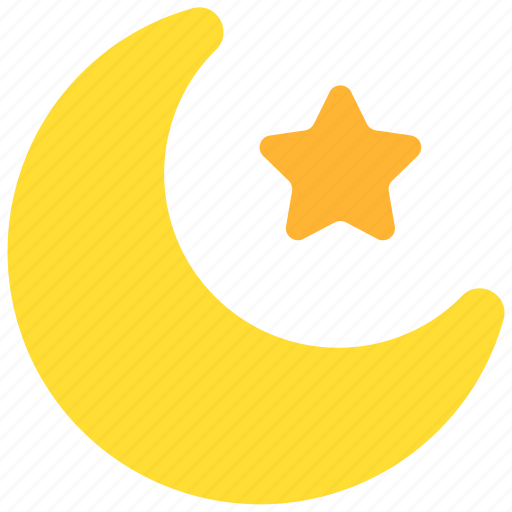 holiday, month, moon, night, sky, star, weather icon
