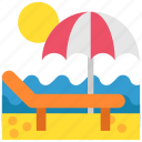 beach, holiday, sea, summer, sun, travel, vacation icon