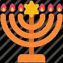 candles, celebration, decoration, hanukkah, holiday, jaw, religion icon