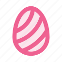 decoration, draw, easter, egg, holiday, paint, stripes icon