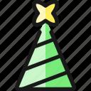 christmas, tree, top