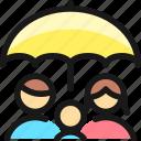 family, umbrella, protect