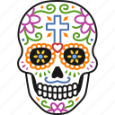 muertos, skull, dia, dead, decorated, day, calavera