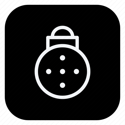 bauble, christmas, decoration, holiday, holidays, outdoor, vacation icon