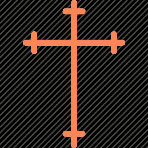 catholic, cross, god, holy, orthodox, thin, word icon