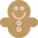 brown, cake, christmas, cookie icon