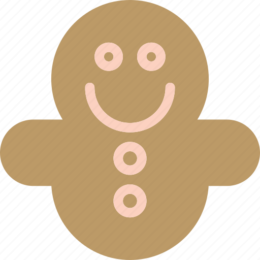 brown, cake, christmas, cookie icon
