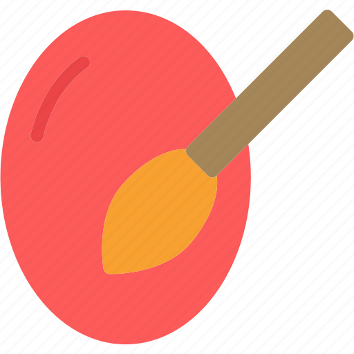 easter, egg, paint, red icon