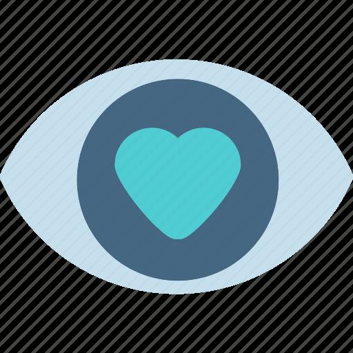 blind, eye, inlove, love icon