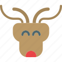 animal, beard, deer, hunt, midget icon