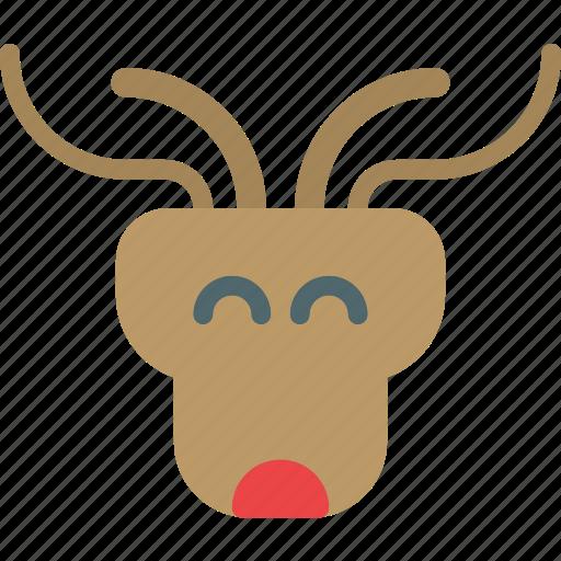 animal, beard, deer, hunt, midget icon