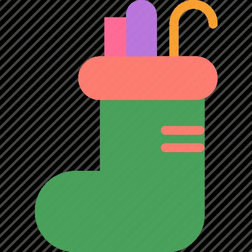 christmas, gift, presents, socks icon