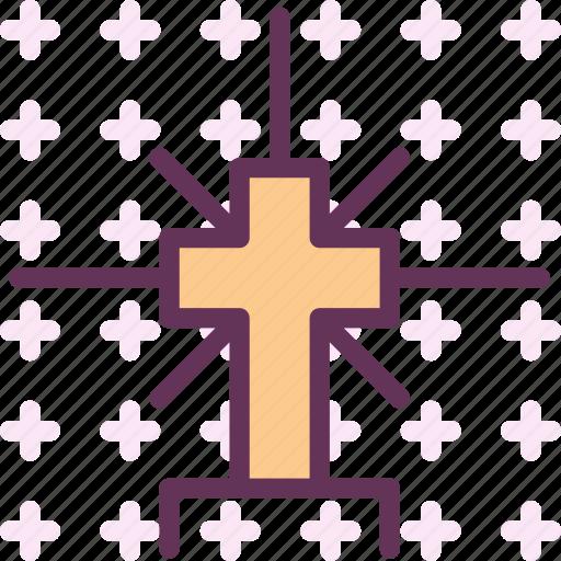 catholic, cross, god, holy, orthodox, shiny, word icon