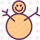 cold, fat, ice, snowman, winter icon