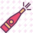 birthday, celebrate, champagne, drink, party icon