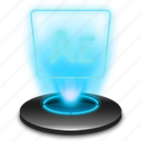 adobe, ae, after, aftereffects, effects, hologram icon