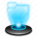 archive, docs, document, documents, files, folder, hologram icon