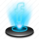 communication, connection, facebook, fb, hologram, network icon