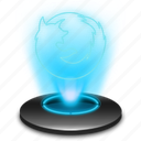browser, ff, firefox, hologram, holographic, internet, mozilla icon