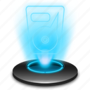 data, drive, hard, harddisk, harddrive, hdd, hologram icon