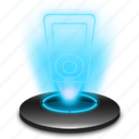 apple, hologram, holographic, ipod, music, player icon