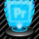 adobe, hologram, pr, premiere, premierepro icon