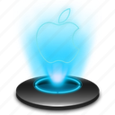 app, apple, computer, fruit, hologram, holographic, mac icon