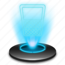 business, calculator, cash, financial, hologram, holographic, office icon