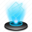 application, hologram, music, player, winamp, windows icon
