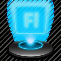 adobe, adobeflash, fl, flash, hologram icon