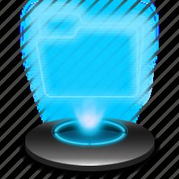 documents, folder, hologram, system, windows icon