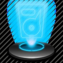 data, drive, hard, harddisk, harddrive, hdd, hologram icon