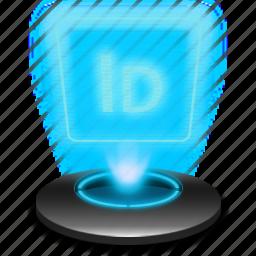 adobe, hologram, id, identity, indesign icon