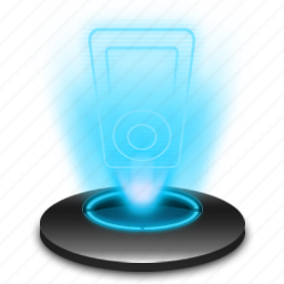 apple, hologram, ipod, music, player icon
