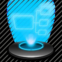 hologram, internet, mynetwork, net, network, web icon