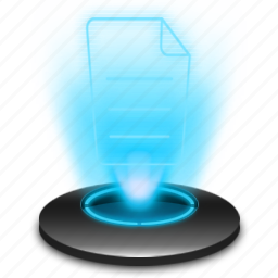 document, hologram, message, note, notepad, text, type icon