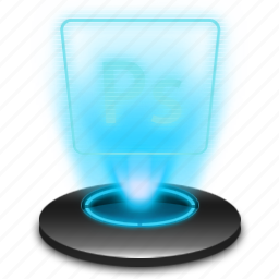 adobe, document, hologram, photoshop, ps icon