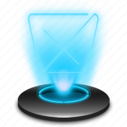 delete, full, garbage, hologram, recycle, remove, trash icon