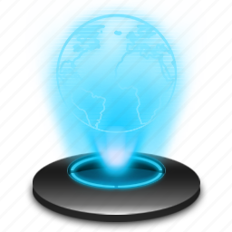 Browser Hologram Internet Network Online Social Web Icon