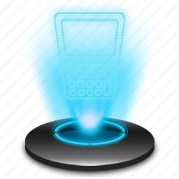 business, calculator, cash, financial, hologram, office icon