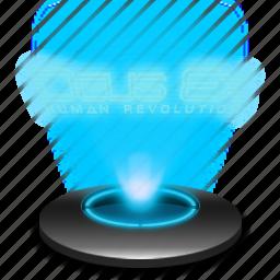 deus, deusex, ex, game, hologram, hr icon