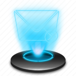 email, hologram, inbox, mail, message, post, send icon